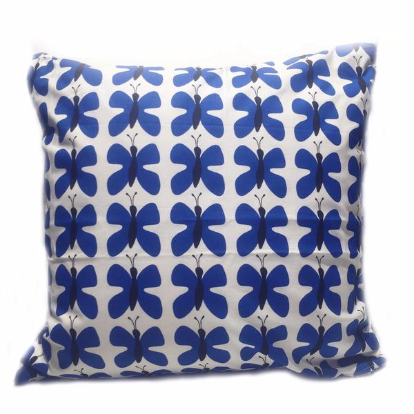 Fjaril Mini Blue 50x50cm Cotton Cushion Cover
