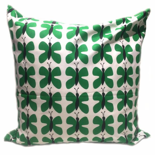 Fjaril Mini Green 50x50cm Cotton Cushion Cover