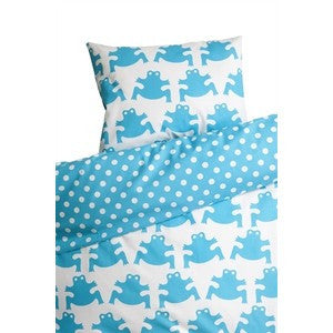 Frog Turquoise Children's Bed Set (Pram) 70cm x 80cm