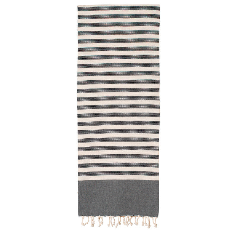 Sur La Plage Black Fouta - Northlight Homestore