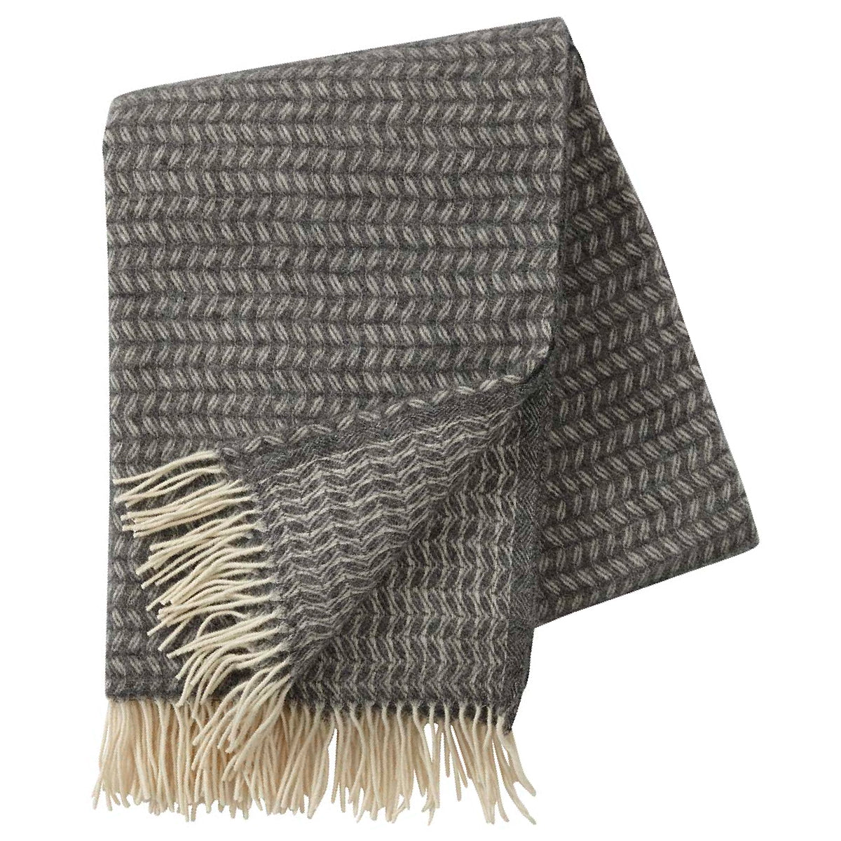 Leaf Grey Merino & Lambs Wool Throw