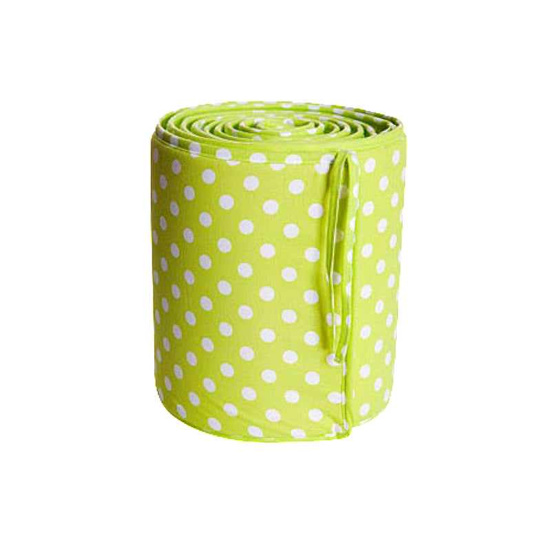 Cot Bumper 28x360cm Cotton Dots Lime