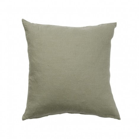 Linn Green 50x50cm Linen Cushion Cover
