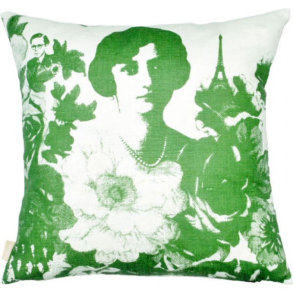 Mademoiselle Green 48x48cm Linen/Cotton Cushion Cover