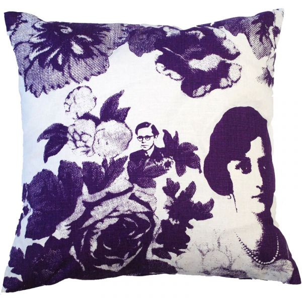 Mademoiselle Purple 48x48cm Linen/Cotton Cushion Cover