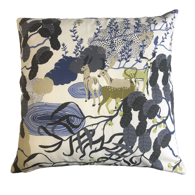 Mimers Brunn Grey/Blue 50x50cm Cotton Cushion