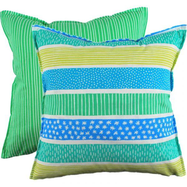 Mizu Blue 48x48cm Cotton Cushion Cover