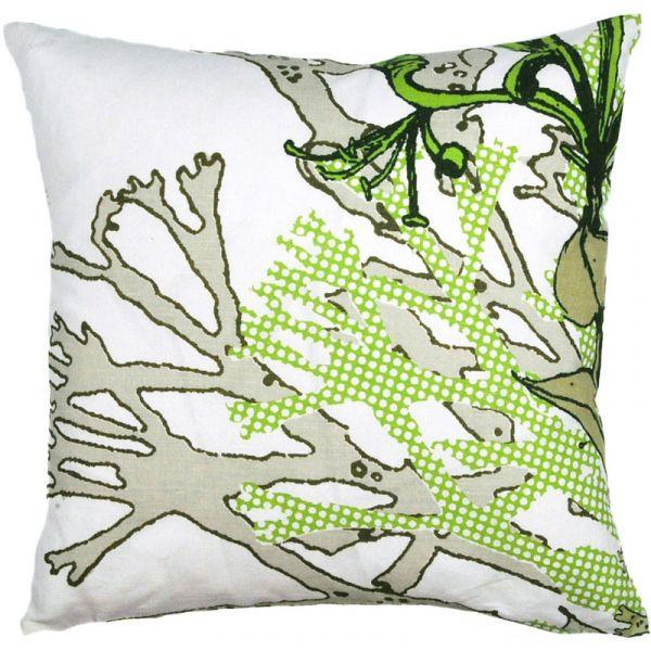 Myrten Green 48x48cm Linen/Cotton Cushion Cover