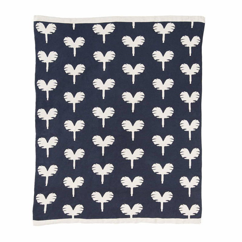 Never Grow Up Blue Baby Blanket