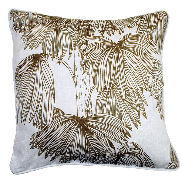 Palma Nougat 48x48cm Linen Cushion Cover