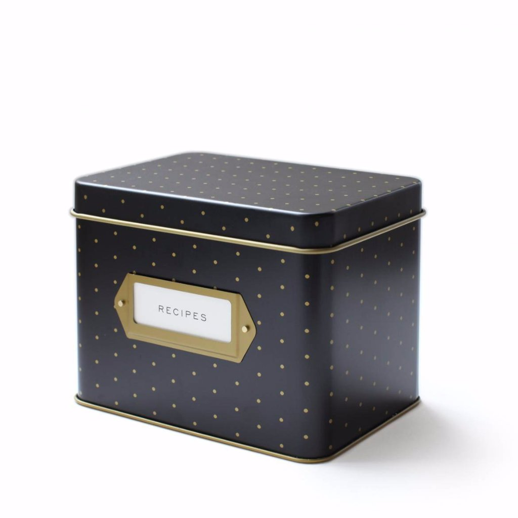 Polka Dot Recipe Tin - Northlight Homestore
