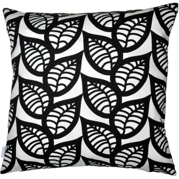 Ranka Black 48x48cm Linen Cushion Cover
