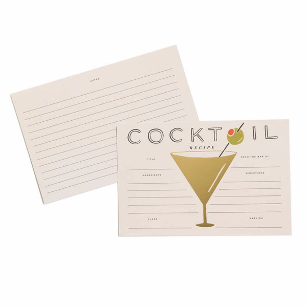 Cocktail Recipe Cards - Northlight Homestore