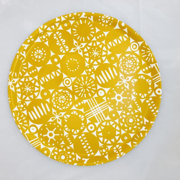 Retro Yellow Ø46cm Round Tray