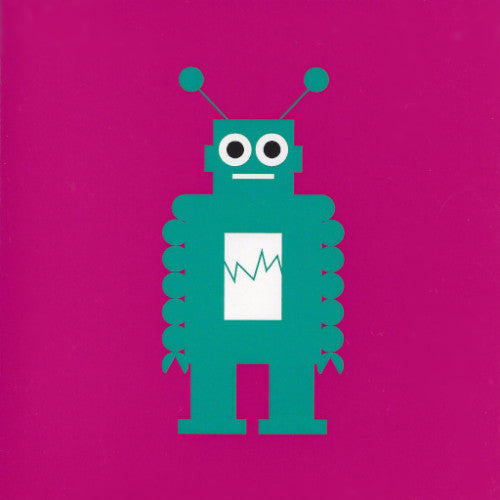 Mr. Fågel Robot Pink/Turquoise Gift Tag - Northlight Homestore