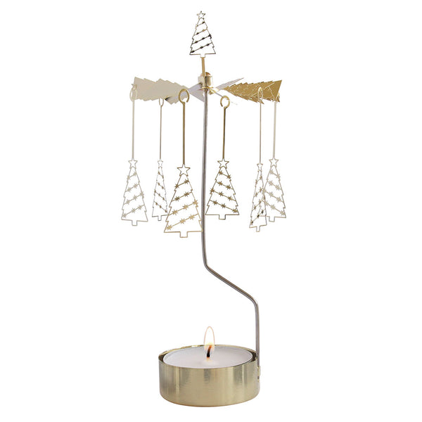 Tree Big Rotary Candle Holder