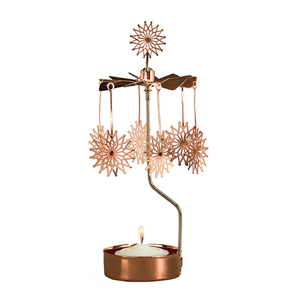 Flowerstar Copper Rotary Candle Holder