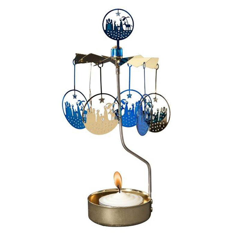 Blue Crib Rotary Tealight Candle Holder
