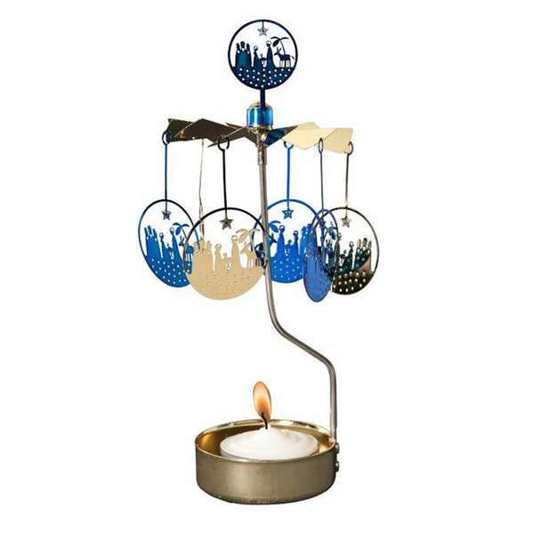 Blue Crib Rotary Tealight Candle Holder - Northlight Homestore