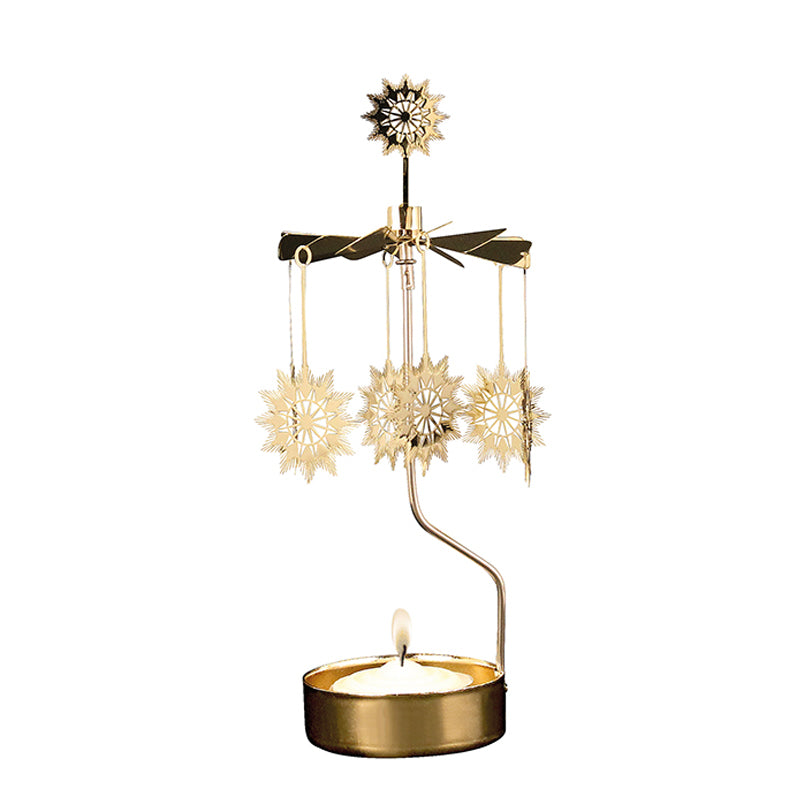 Traditional Star Gold Rotary Candle Holder - Northlight Homestore
