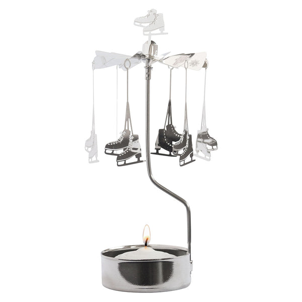 Ice Skates Rotary Candle Holder - Northlight Homestore