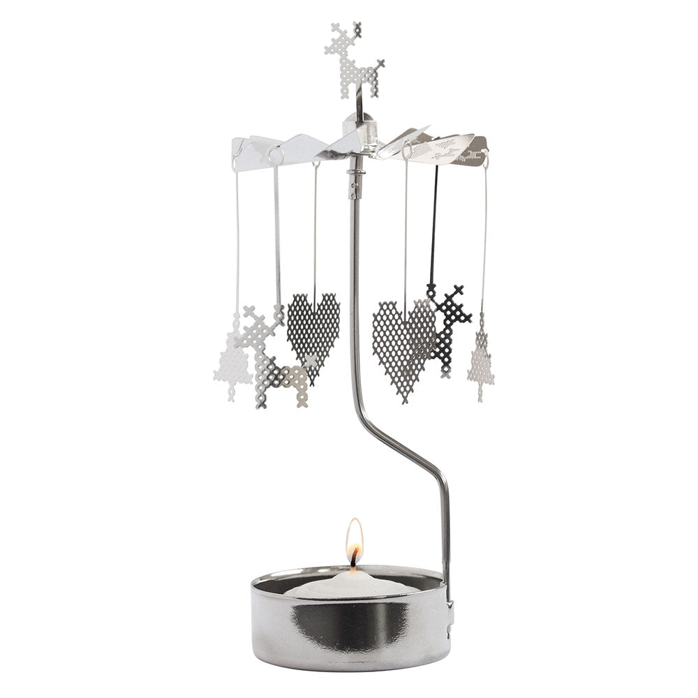 Cross Stitch Rotary Candle Holder - Northlight Homestore