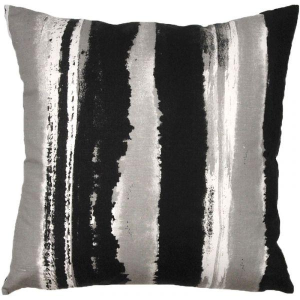 Sinna Black 48x48cm Linen/Cotton Cushion Cover
