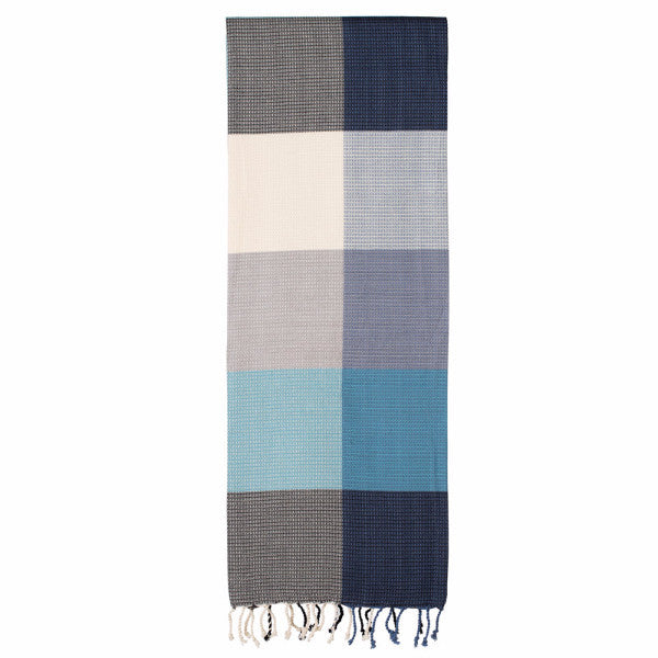 Remembering The Tartan Blue Fouta - Northlight Homestore