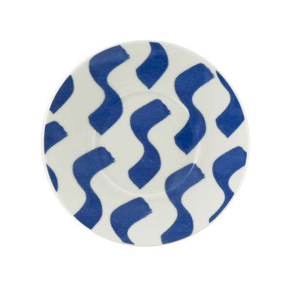 Wavy Waves Blue Saucer - Northlight Homestore