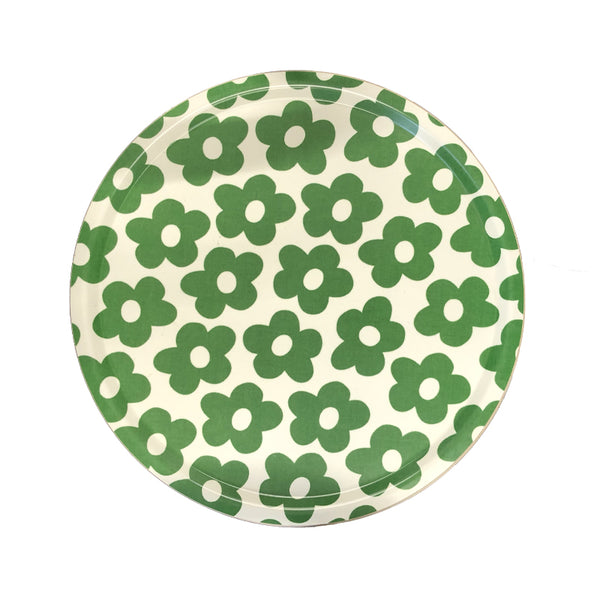 Blomma Green Birchwood Ø46cm Round Tray
