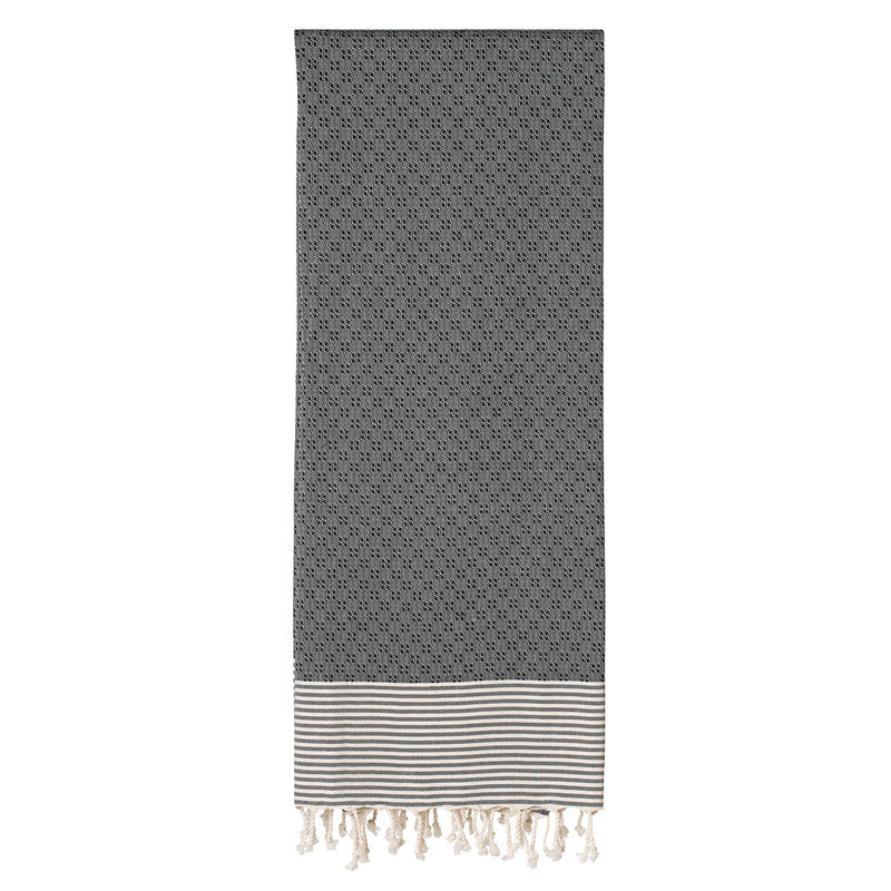 Twists and Turns Black Fouta - Northlight Homestore