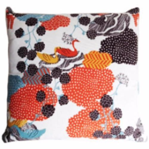 Urd's Well Orange/Yellow 50x50cm Cotton Cushion Cover