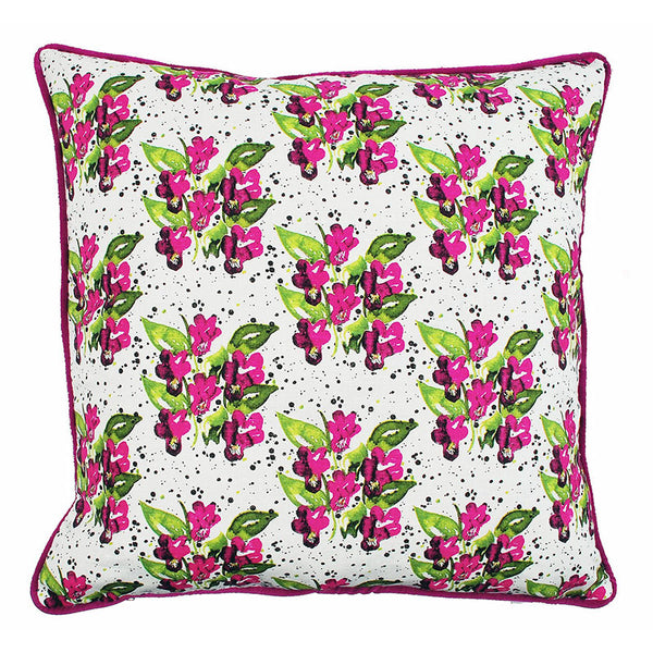 Viola Cerise 48x48cm Linen/Cotton Cushion Cover