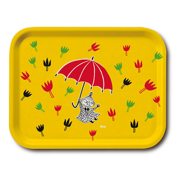 Little My Umbrella 20x27cm Yellow Birchwood Tray