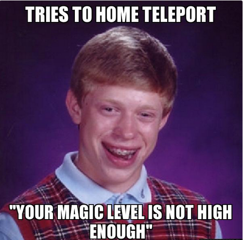Tires to home teleport