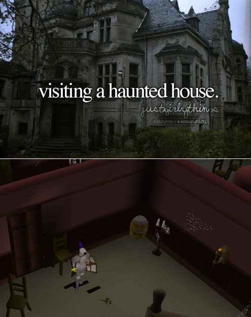 Visiting a haunted house
