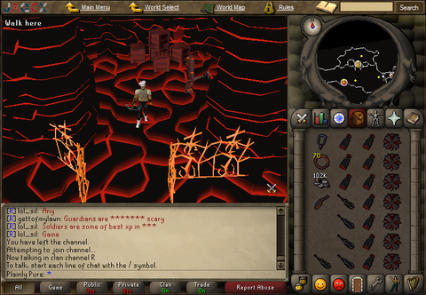 profits from training range from 75 to 92 in tzhaar cave