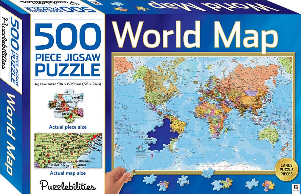 world map jigsaw puzzle 500 piece