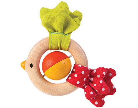 Plan Toys, Bird Rattle, Wooden Toys, Eco-Friendly, Baby Toy, Rattle