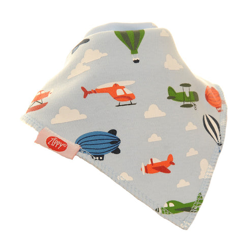 Planes, Pilot Helicopters, Hot Air Balloons, Bib, Baby, First Bib, Baby Bib, Zippy Baby, Absorbent