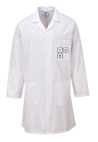 I Lv Sc lab coat