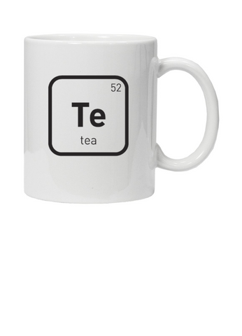 White Mug with Te 52 Tea in black text