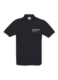 Black polo shirt with CSciTeach Chartered Science Teacher in white text