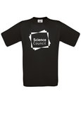Black t-shirt with Science Council logo