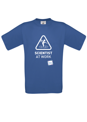 Scientist At Work (Male image) Blue T-Shirt