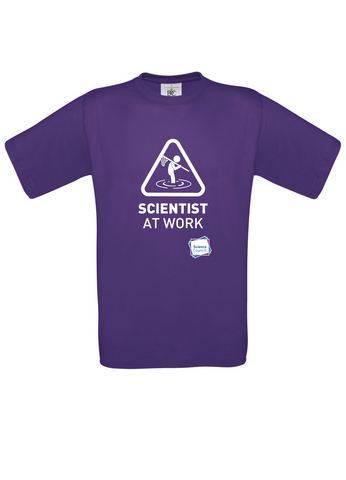 Scientist At Work (Male image) Purple T-Shirt