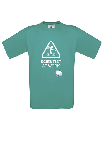 Scientist At Work (Male image) Turquoise T-Shirt