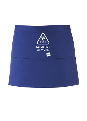 Scientist At Work Royal Blue Apron
