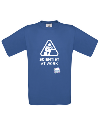 Scientist At Work (Female image) Blue T-Shirt