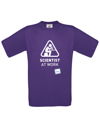 Scientist At Work (Female image) Purple T-Shirt